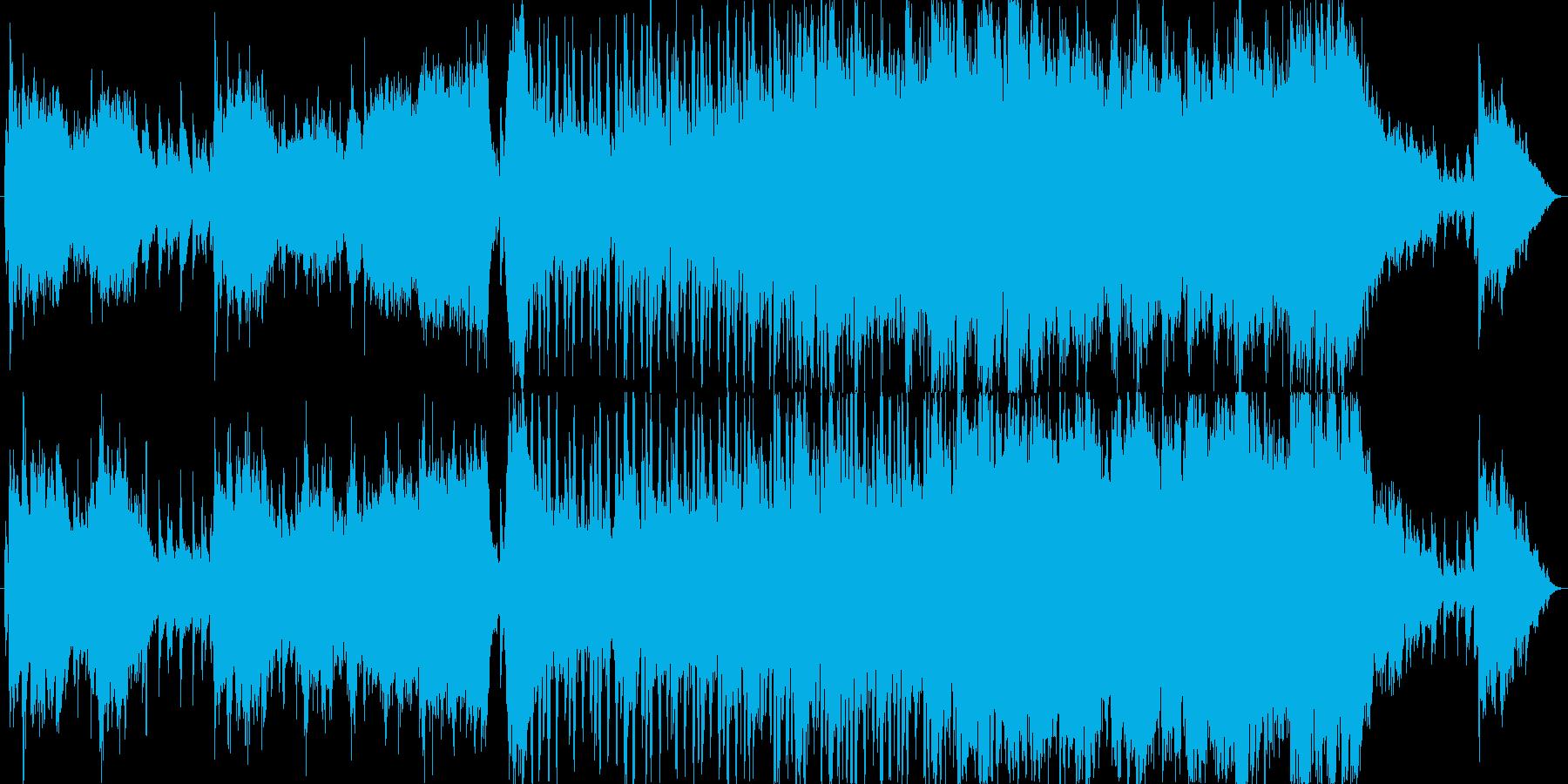 戦闘前/緊張感のある勇壮なオーケストラ曲の再生済みの波形