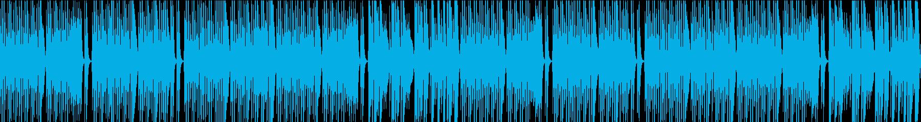 メロディの少ない可愛いポップス(ループ版の再生済みの波形
