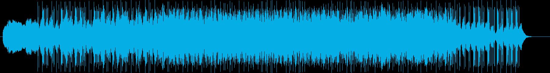 不安渦巻く音の再生済みの波形