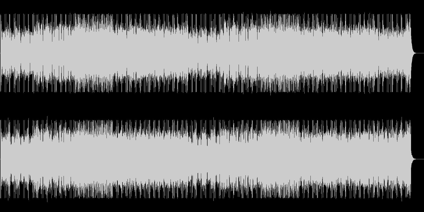 スリリングで疾走感のあるテクノBGMの未再生の波形