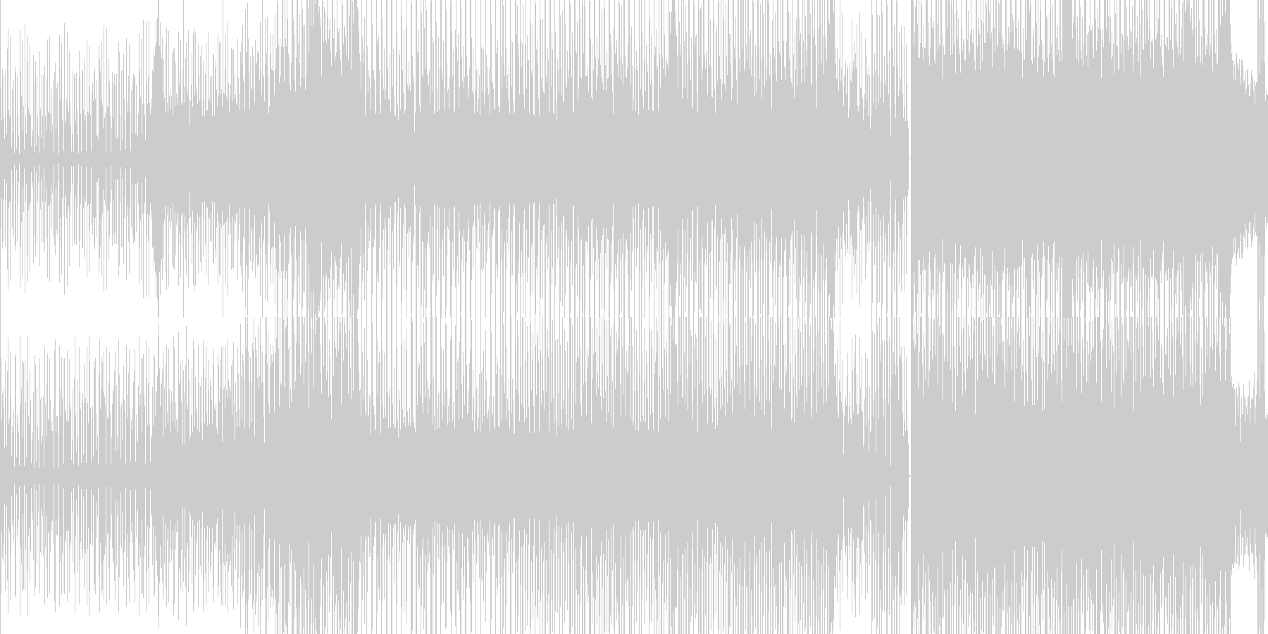 ループ■ピコピコに笛が絡むテクノポップの未再生の波形