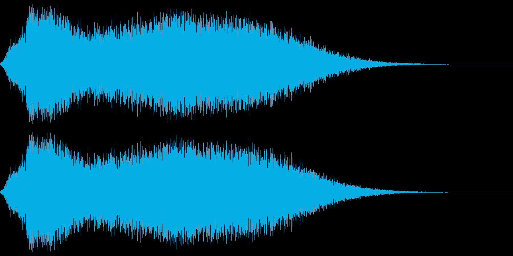 アニメにありそうなミサイルが飛び交う音の再生済みの波形