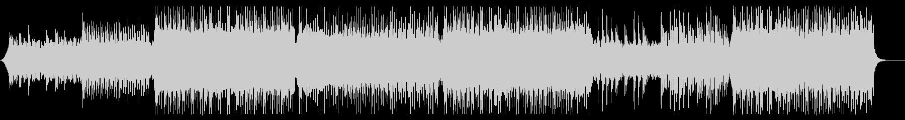 ギターリフがリードするコーポレート曲の未再生の波形