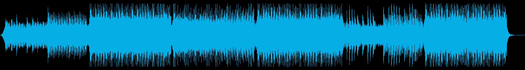 ギターリフがリードするコーポレート曲の再生済みの波形