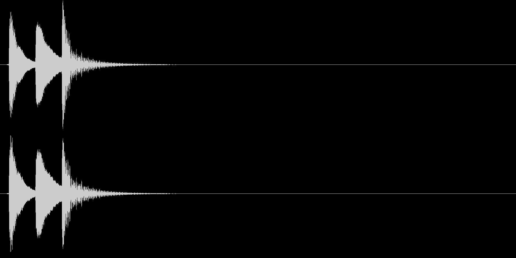 コロロン(下がり調子)の未再生の波形