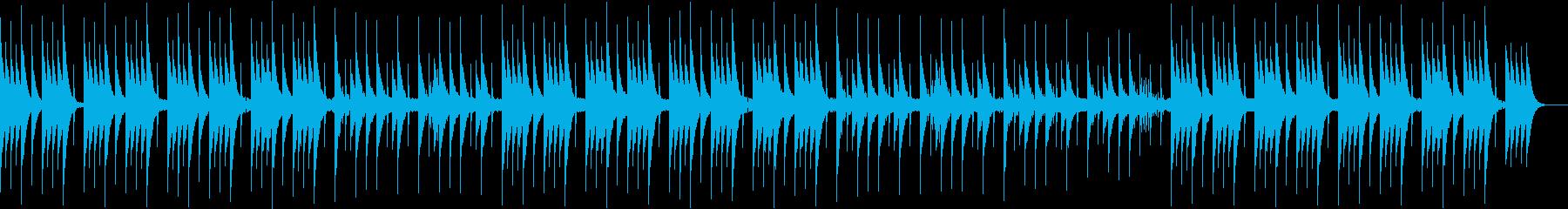 ホラー・怪談・心霊系の涼しい曲の再生済みの波形