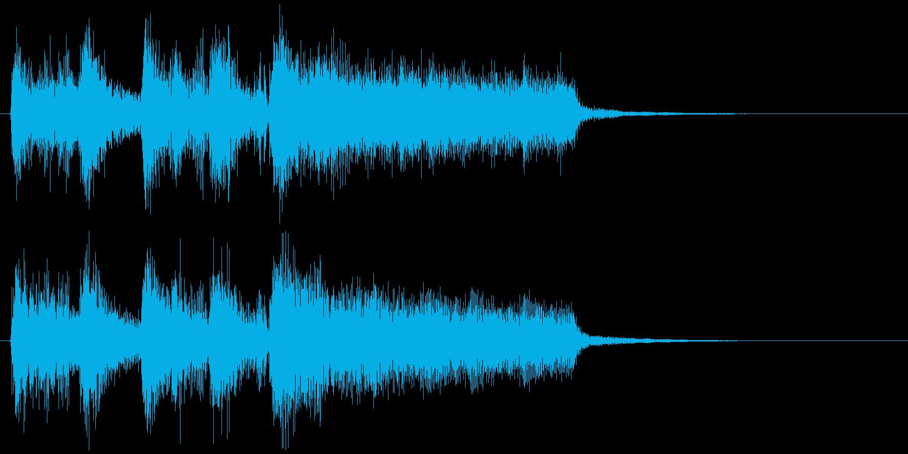 レベルアップ系ジングル、爽快ブラスジャズの再生済みの波形