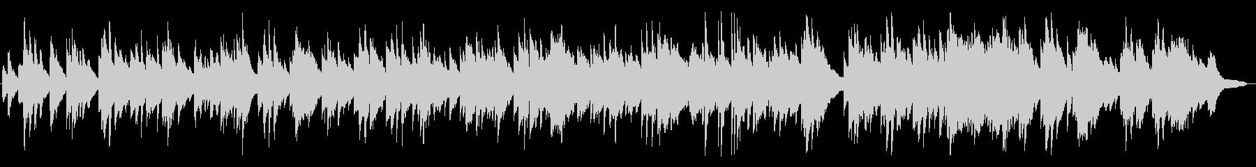 優しく、切ないワルツのピアノBGMの未再生の波形
