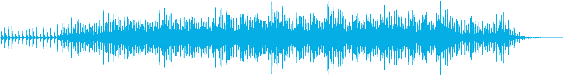 サイエンス系BGMの再生済みの波形
