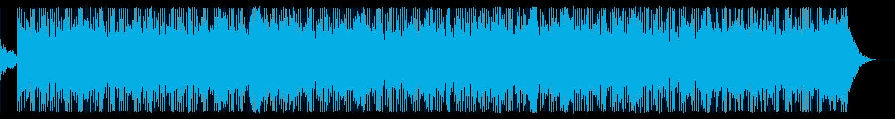 緊張、緊迫、疾走、脱出の緊急事態テクノbの再生済みの波形
