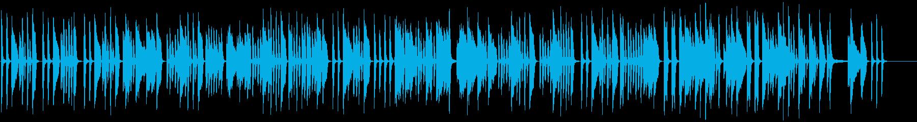 コミカルで可愛らしいピアノの再生済みの波形
