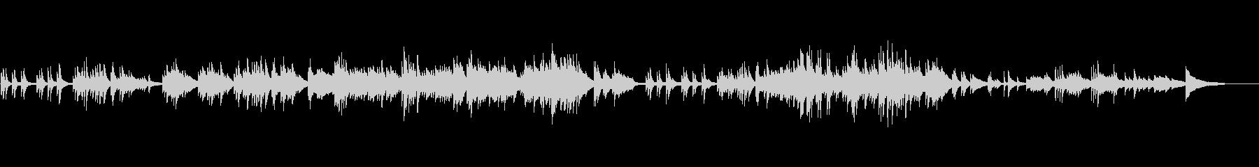 切ないピアノバラード(和風テイスト)の未再生の波形