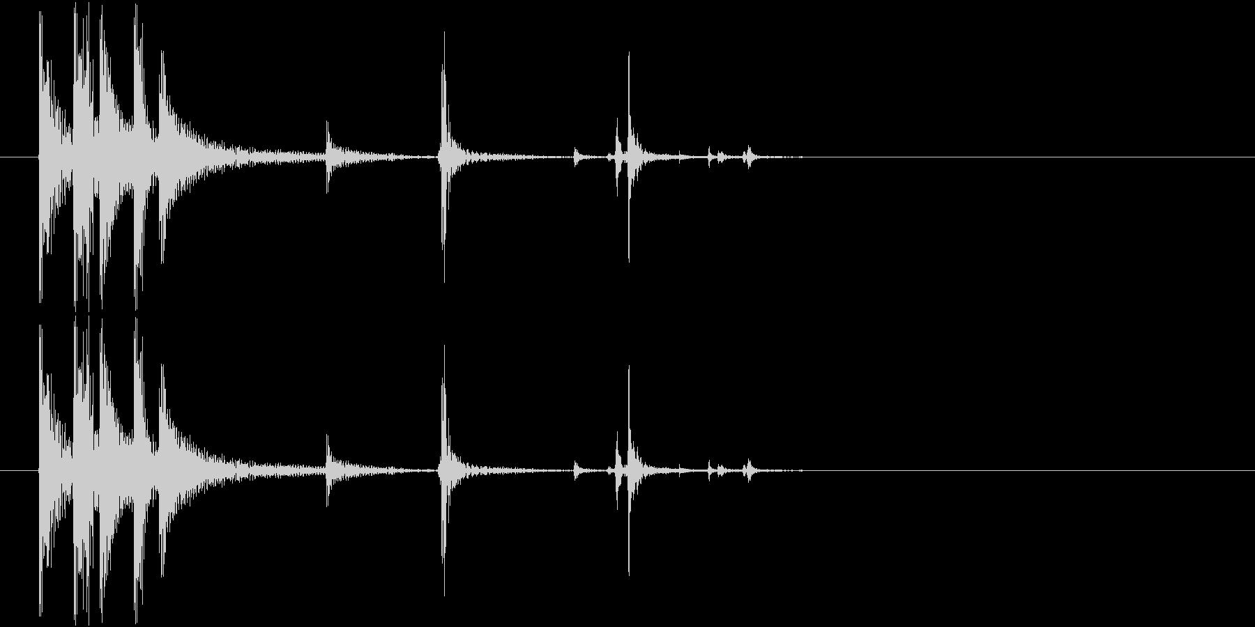 木片を落とすの未再生の波形