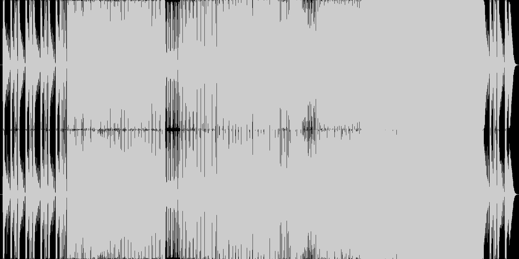 幻想的で、場面転換の多いロック曲。生演奏の未再生の波形