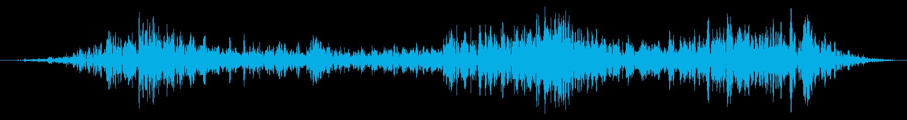 神秘的な深い水中バブルラッシュの再生済みの波形