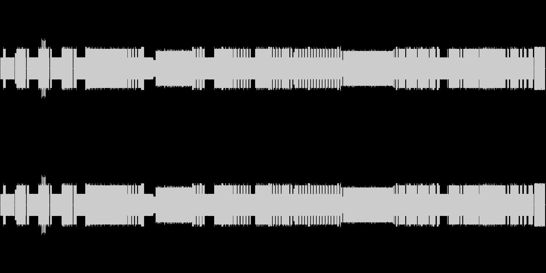 チップチューン!バッハのインベンション7の未再生の波形