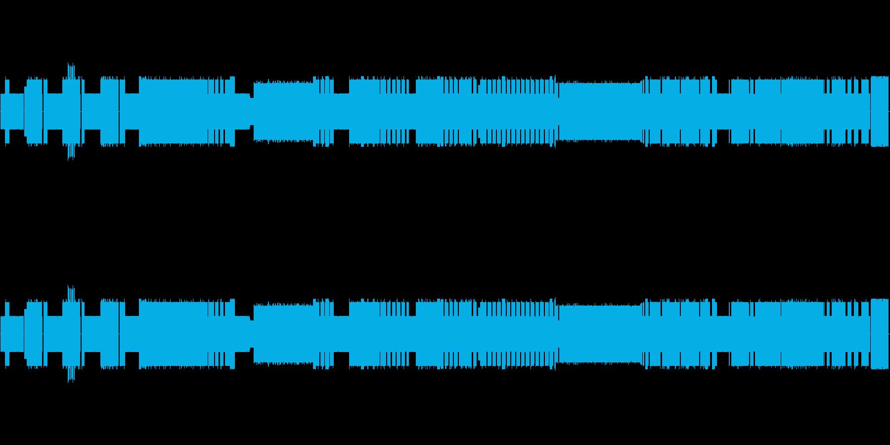 チップチューン!バッハのインベンション7の再生済みの波形