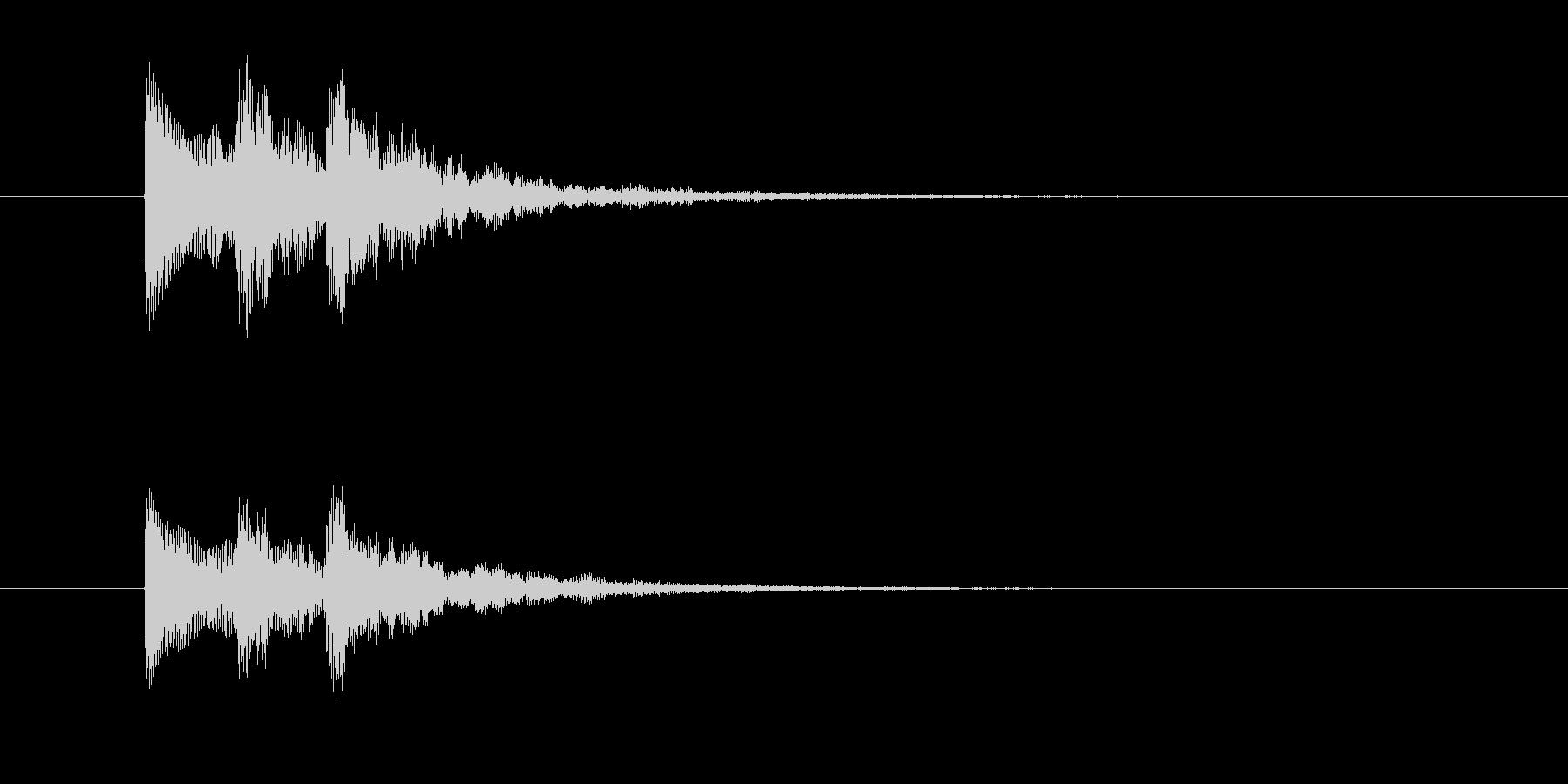 チャララン(シンセジングル)の未再生の波形