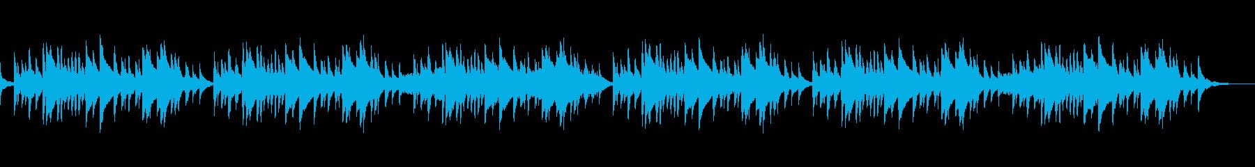 静かな美しい琴の和風BGMの再生済みの波形