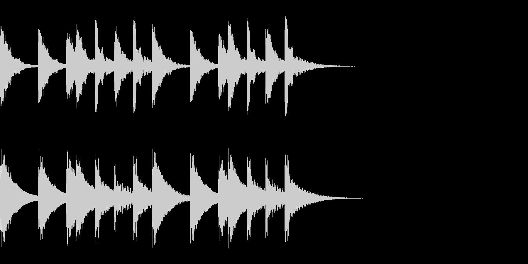 ででーーんという感じの木琴のジングルの未再生の波形