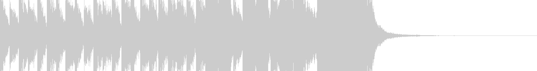 シンキングタイム:重厚なテクノ10秒の未再生の波形