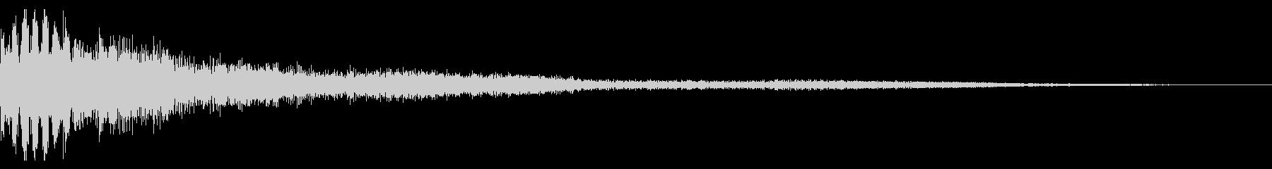 シンプルな銅鑼ショットの未再生の波形