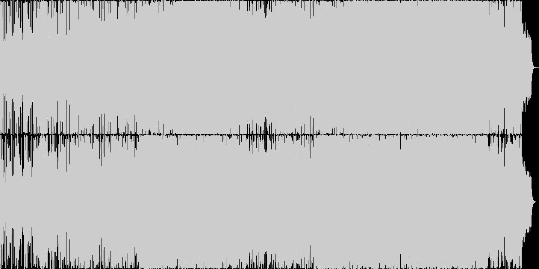 しあわせな感じのBGMの未再生の波形