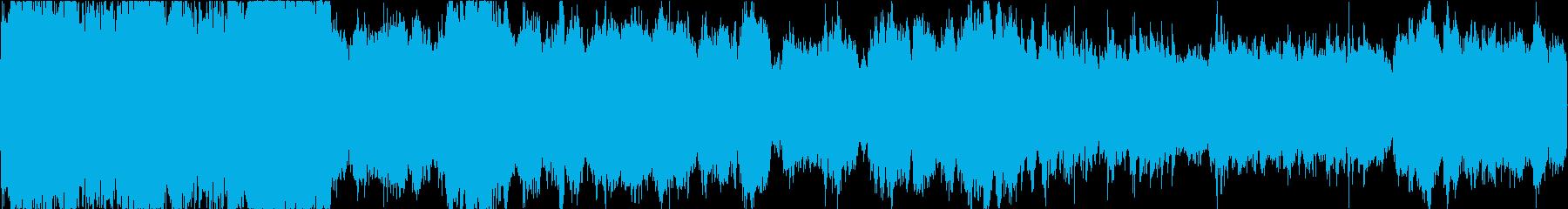 雄大な雰囲気のフィールド向けBGMの再生済みの波形