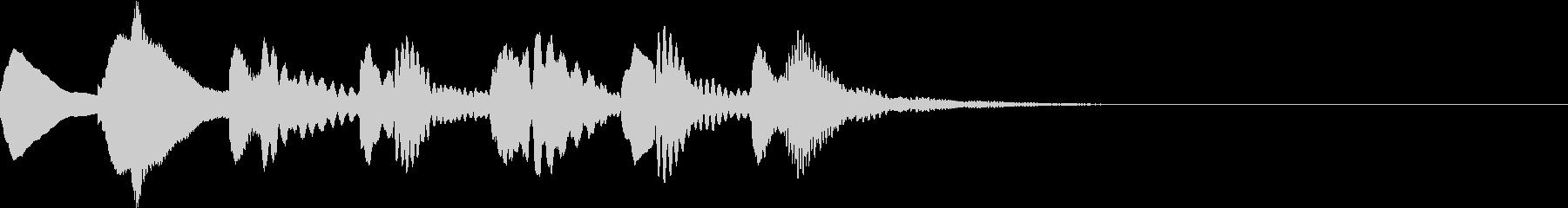 マリンバのジングルの未再生の波形