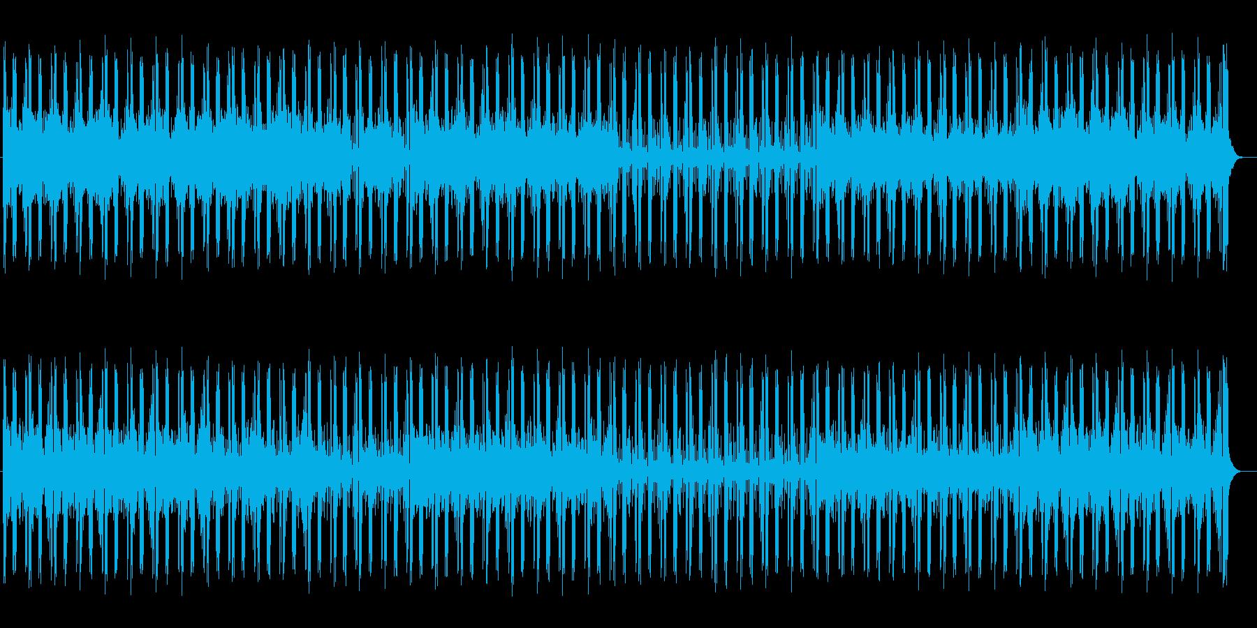 ベースが響くヒーリングミュージックの再生済みの波形