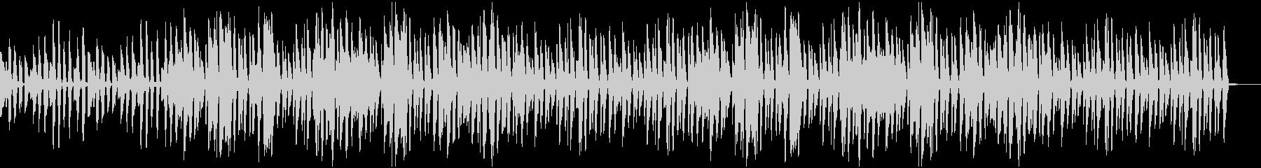ボサノヴァ風 ほのぼのしたギターサウンドの未再生の波形
