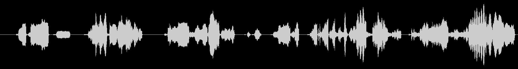 ロボットが喋る言葉のような機械音1の未再生の波形