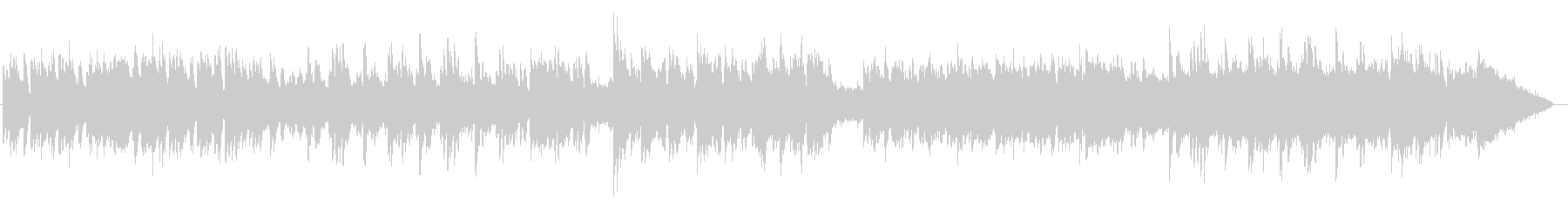 浮遊する繊細なハープとピアノサウンドの未再生の波形