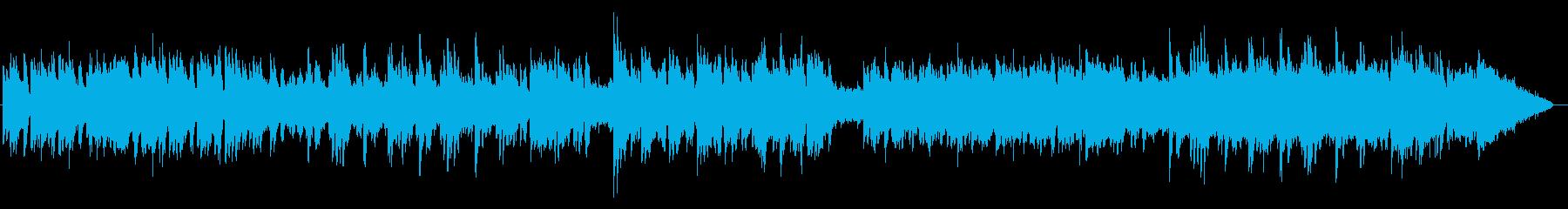浮遊する繊細なハープとピアノサウンドの再生済みの波形