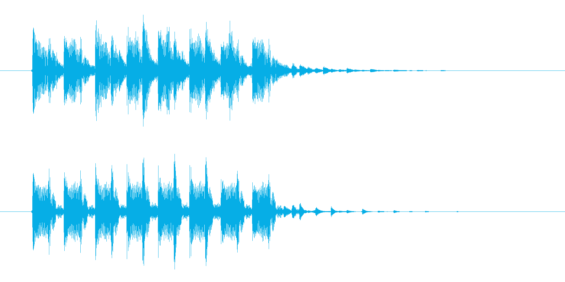 クールで暗めなテクノポップスのジングル曲の再生済みの波形