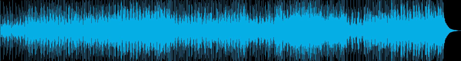 軽快なアコースティックメロディの再生済みの波形