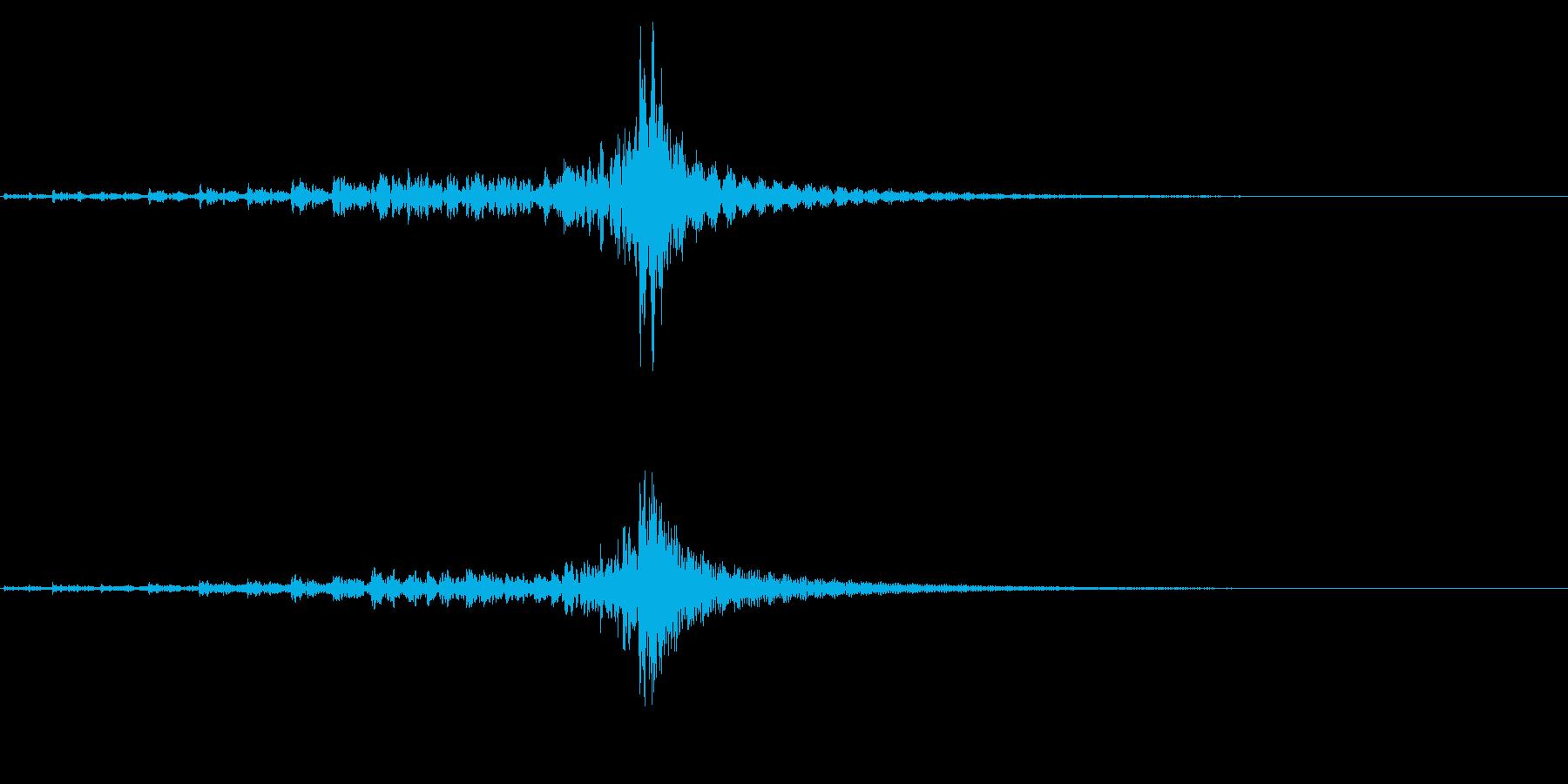 ティンパニ、(手)、低クレッシェン...の再生済みの波形