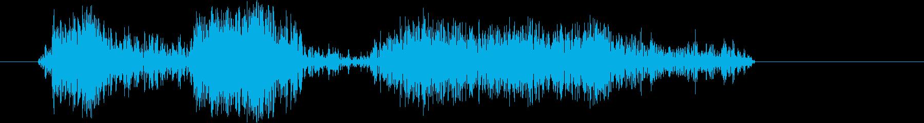 火球連続低周波ランブル;火の玉連続...の再生済みの波形