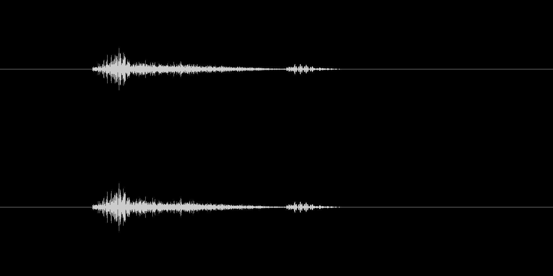 鳴き声 男性の咳を抑えた02の未再生の波形