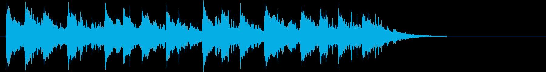 民族楽器によるエスニック&インド音楽ロゴの再生済みの波形