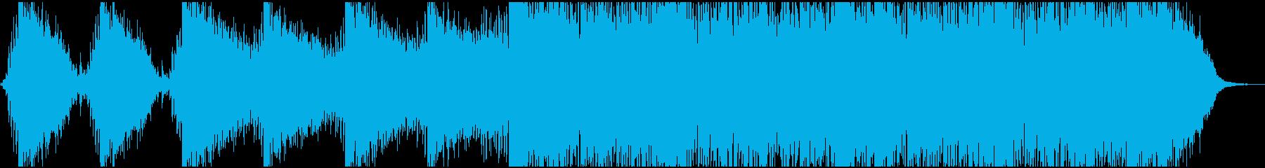 ダークでテンションが上がる曲の再生済みの波形