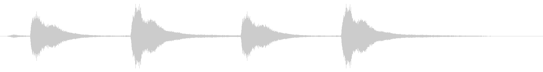 レプトン教会C#ベル:4つのリングの未再生の波形