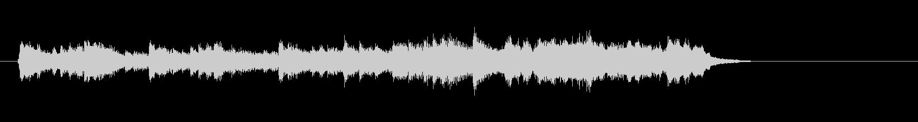 感傷的なピアノバラード(イントロ)の未再生の波形