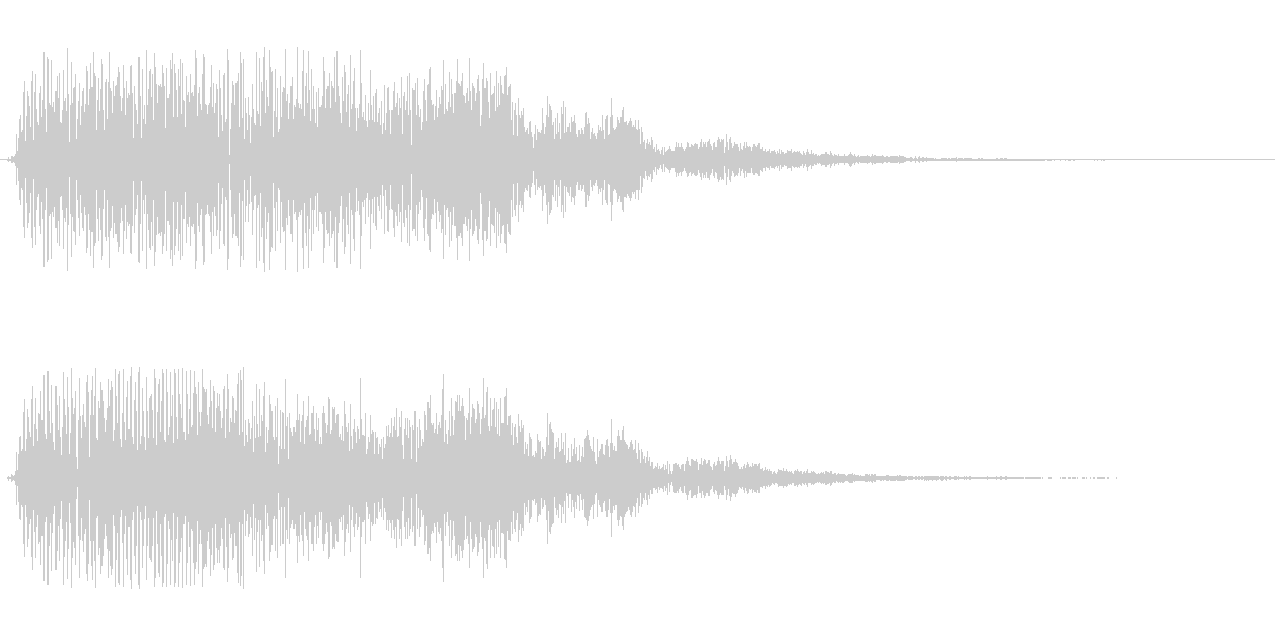 ドフォーン、と響くような電子音の未再生の波形