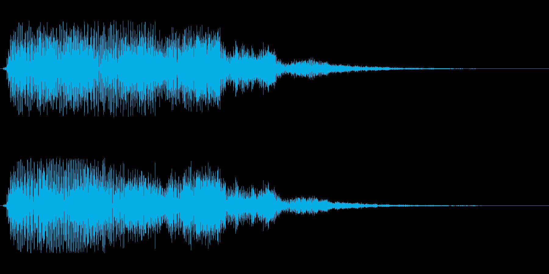 ドフォーン、と響くような電子音の再生済みの波形