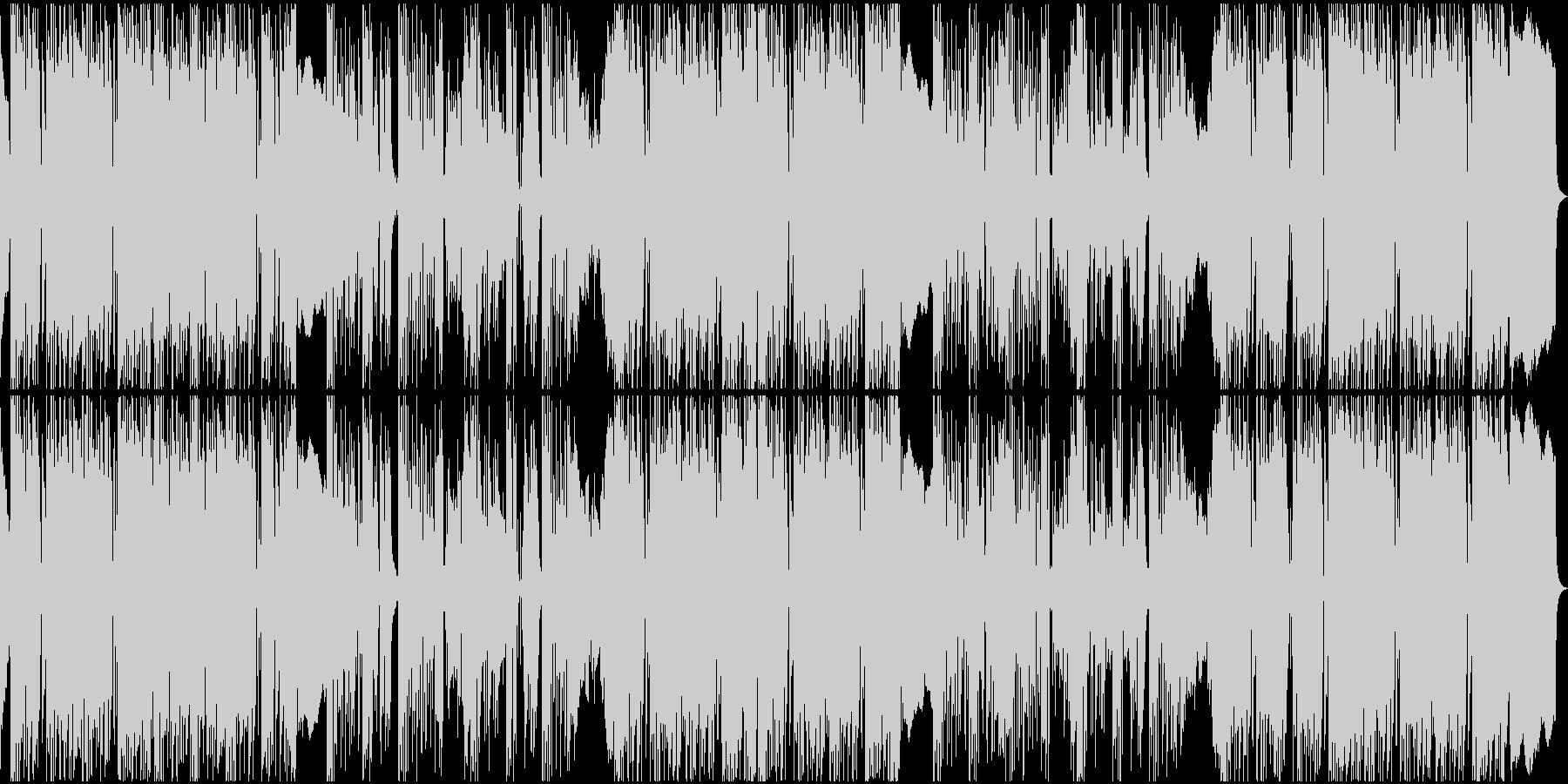 コミカルなリズムのレゲェの未再生の波形