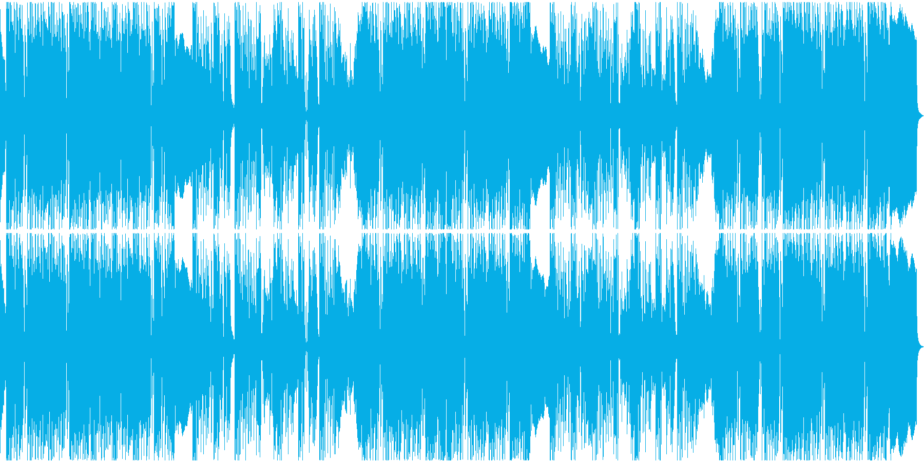 コミカルなリズムのレゲェの再生済みの波形
