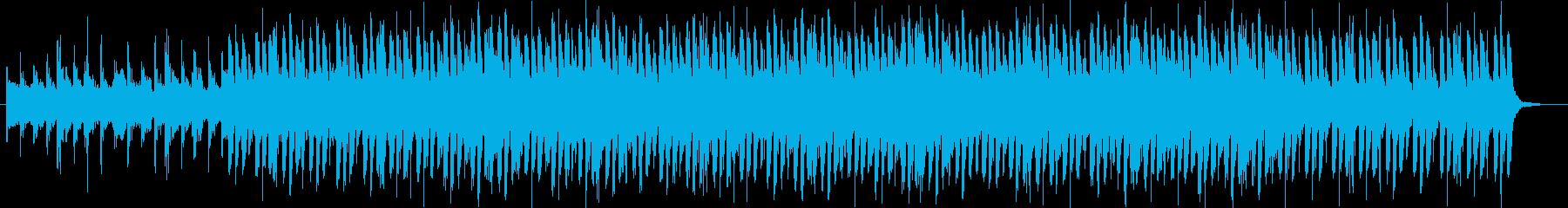 重みのあるパーカッションと笛の曲の再生済みの波形
