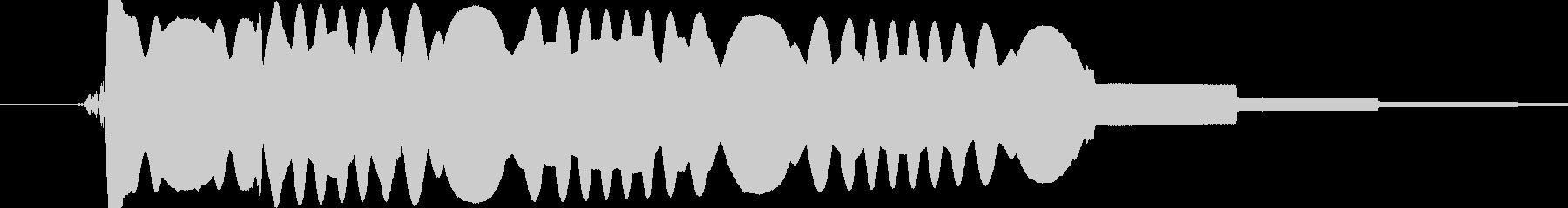 人工的な電波の音です。の未再生の波形
