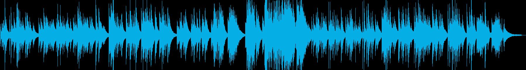 シンプルな日本のメロディーのピアノワルツの再生済みの波形